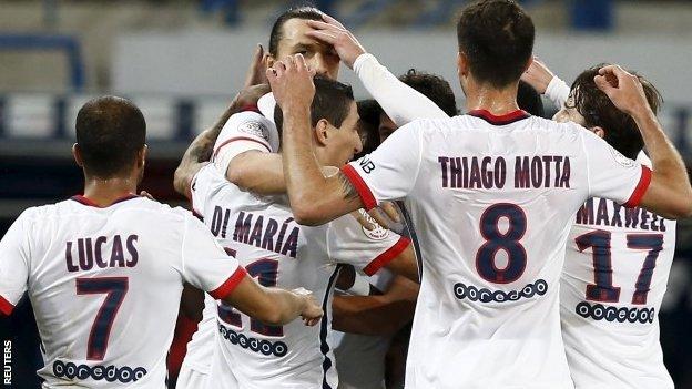 PSG celebrate