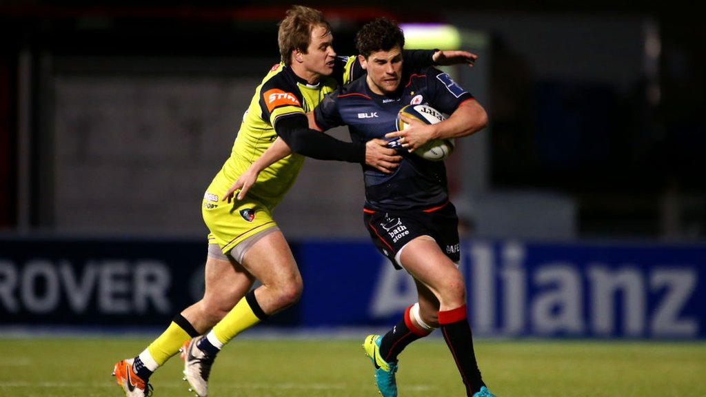 Tim Streather: Ex-Saracens centre forced to retire by knee injury
