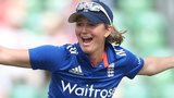 Charlotte Edwards celebrates a catch