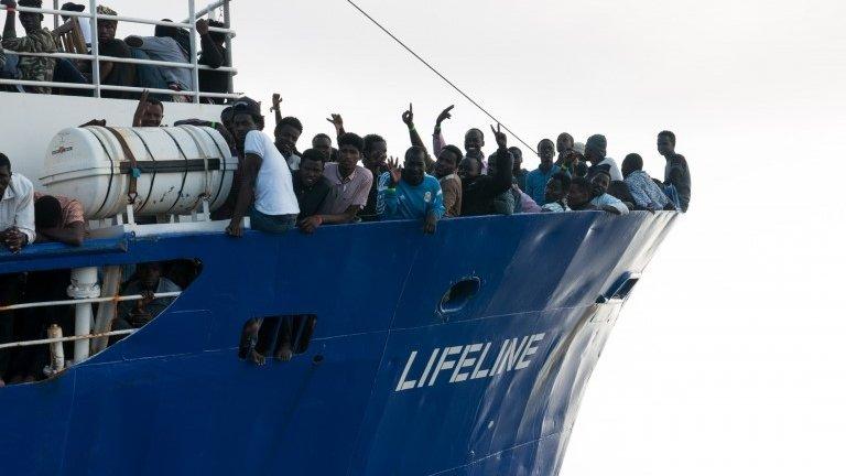 Italy migrant row: Malta defiant over stranded rescue boat