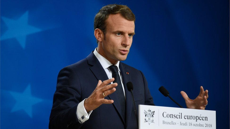 Brexit: France's Macron makes English faux pas over visas