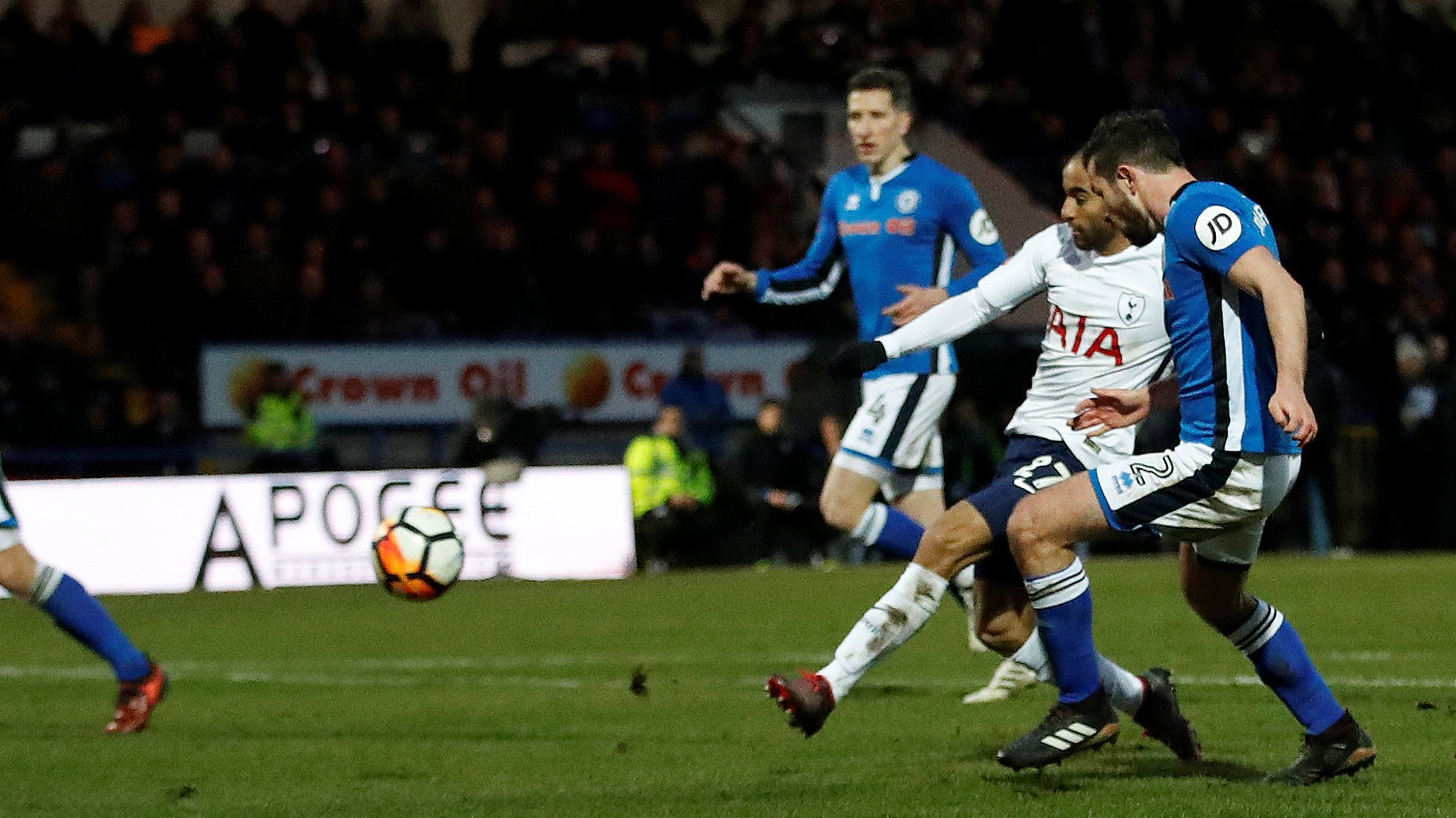 FA Cup: Tottenham Hotspurs new signing Lucas Moura scores against Rochdale in the fifth-round