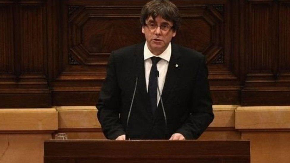 زعيم إقليم كتالونيا كارلس بوجديمون