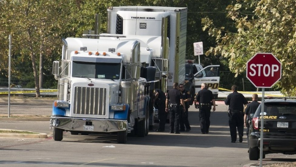 San Antonio: Truck found in Texas with dozens inside