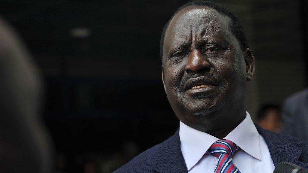 """Raila Odinga """"Il est encore possible de reconsidérer notre décision"""""""