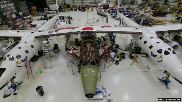 Virgin Galactic: Timelapse shows space ship construction