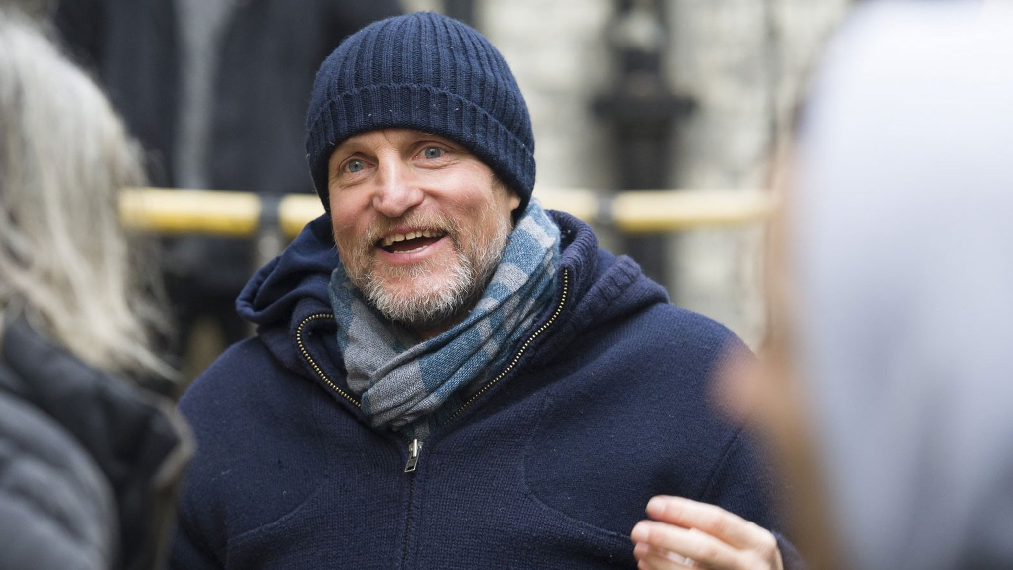 Woody Harrelson shoots live movie hours after 'WW2 bomb' discovery