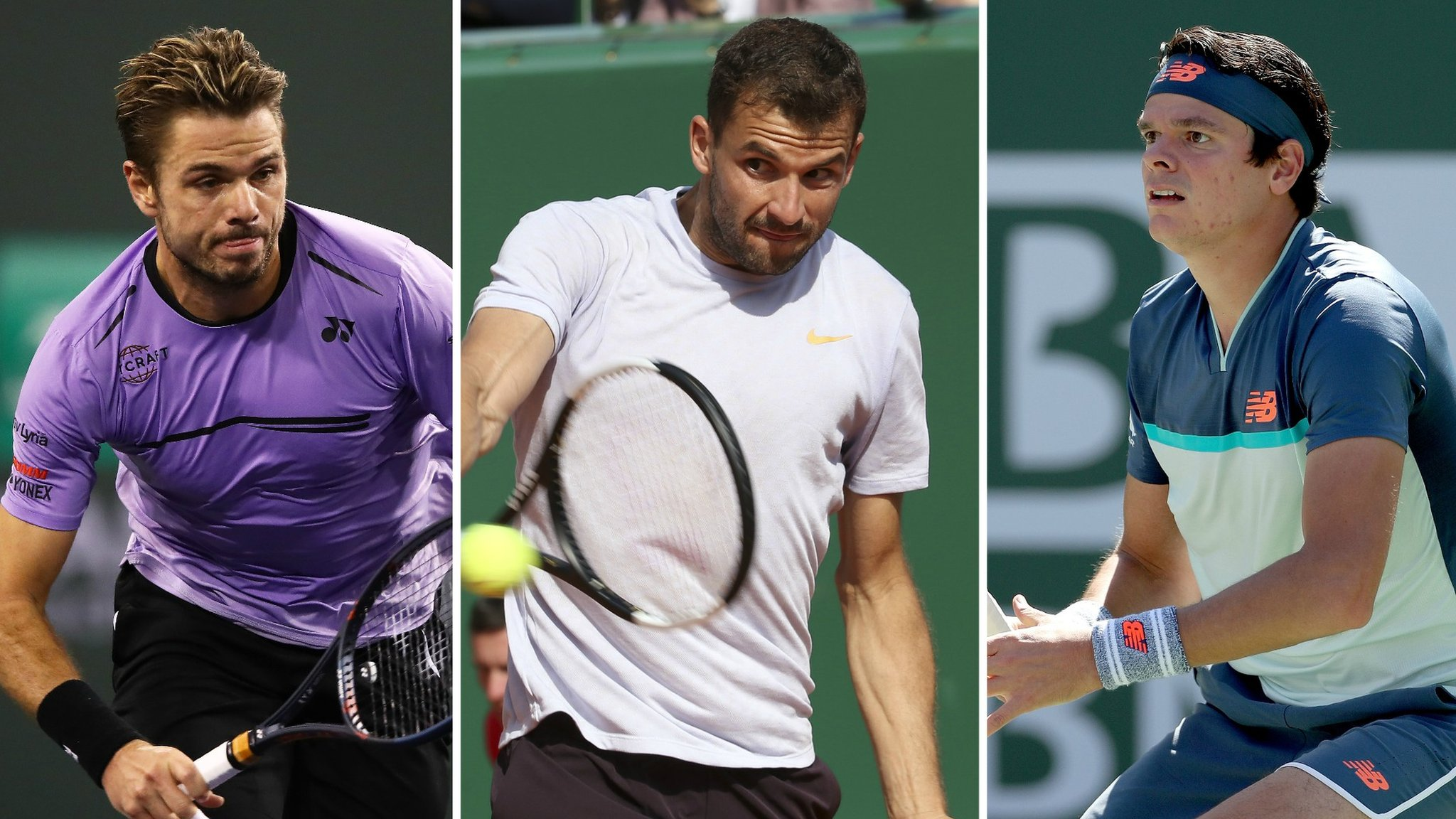 Raonic, Dimitrov and Wawrinka to play Queen's