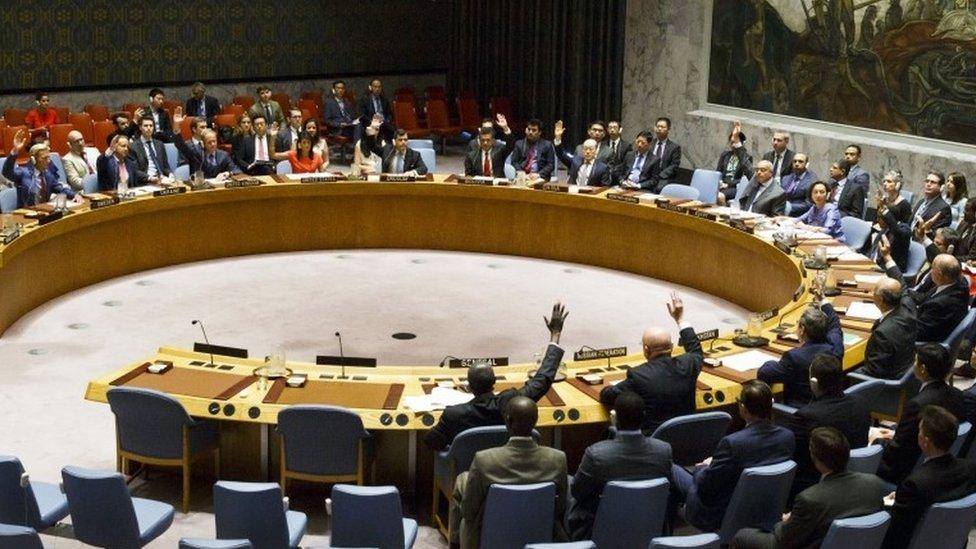 مجلس الأمن وافق على العقوبات بالإجماع