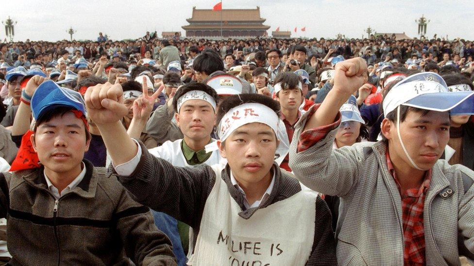 Beijing, Tiananmen, protest
