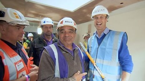 The DIY SOS team and Prince William