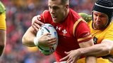 Gareth Davies is tackled