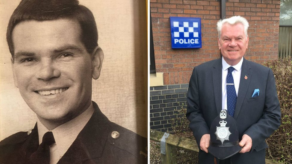 South Shields police officer reunited with helmet 50 years on