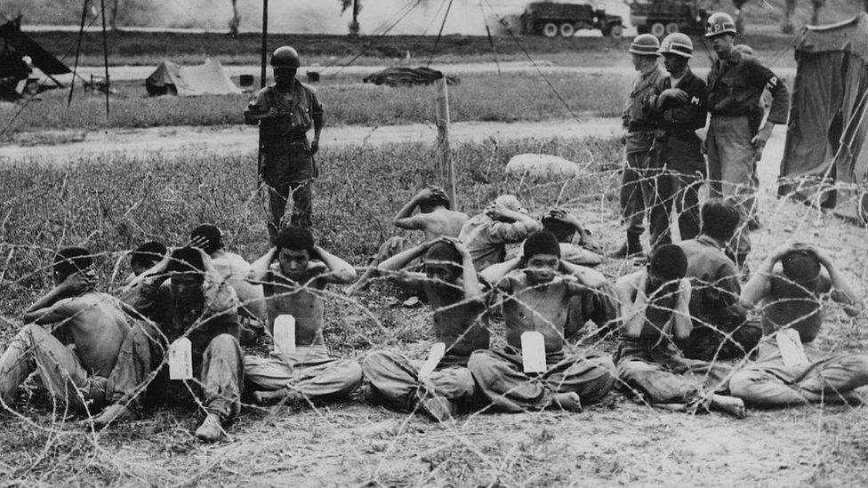 Prisioneros norcoreanos capturados por EE.UU.