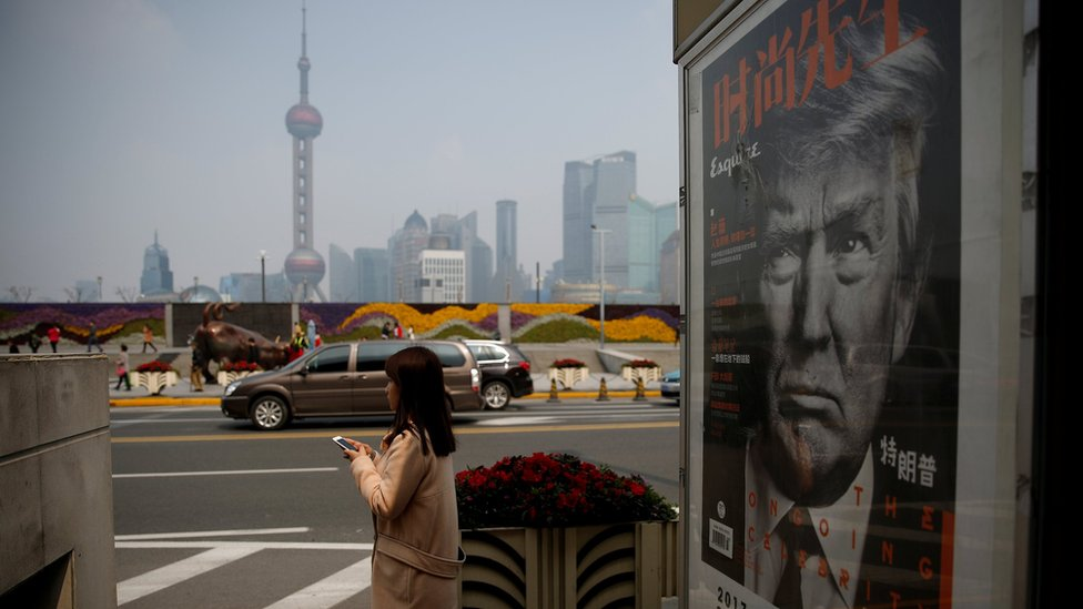 Afiche de Trump en China