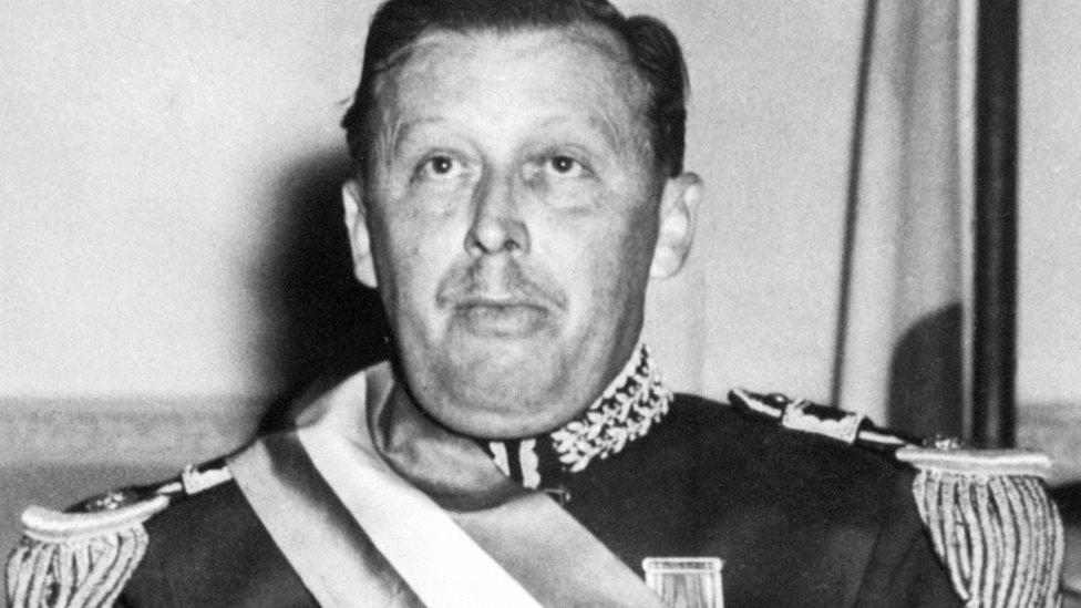 Former Paraguayan dictator Alfredo Stroessner