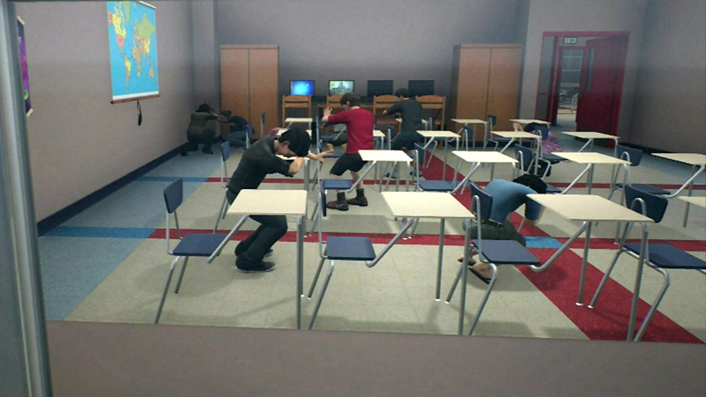 Simulator trains teachers to deal with mass shootings