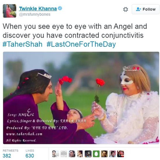 When you see eye to eye with an angel and discover you have contracted conjuctivitis #TaherShah #lastonefortheday