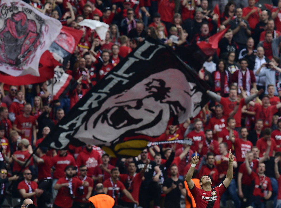 Afición del Bayer Leverkusen