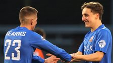 Daniel Kearns and Joel Cooper were both on target for Glenavon in their win over Linfield