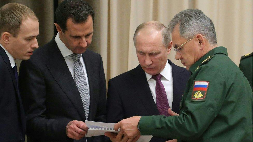 اجتماع بوتين والأسد حضره قادة عسكريون كبار