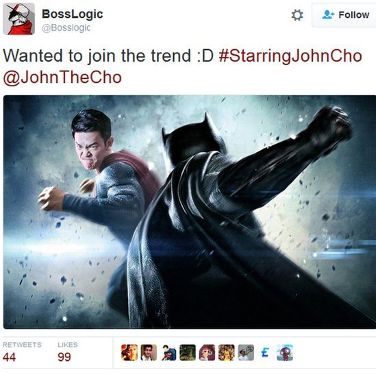 Movie poster of with John Cho as Superman
