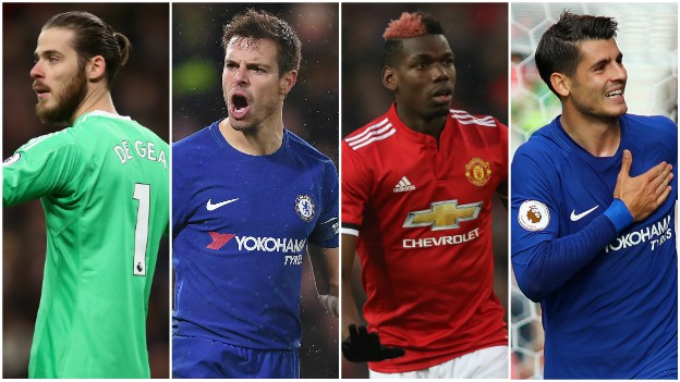 De Gea? Azpilicueta? Pogba? Morata? Pick your combined Man Utd & Chelsea XI