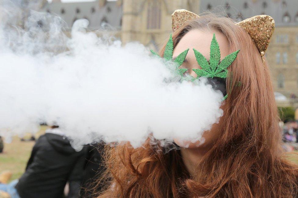 La marihuana es la droga ilegal más usada en Canadá.
