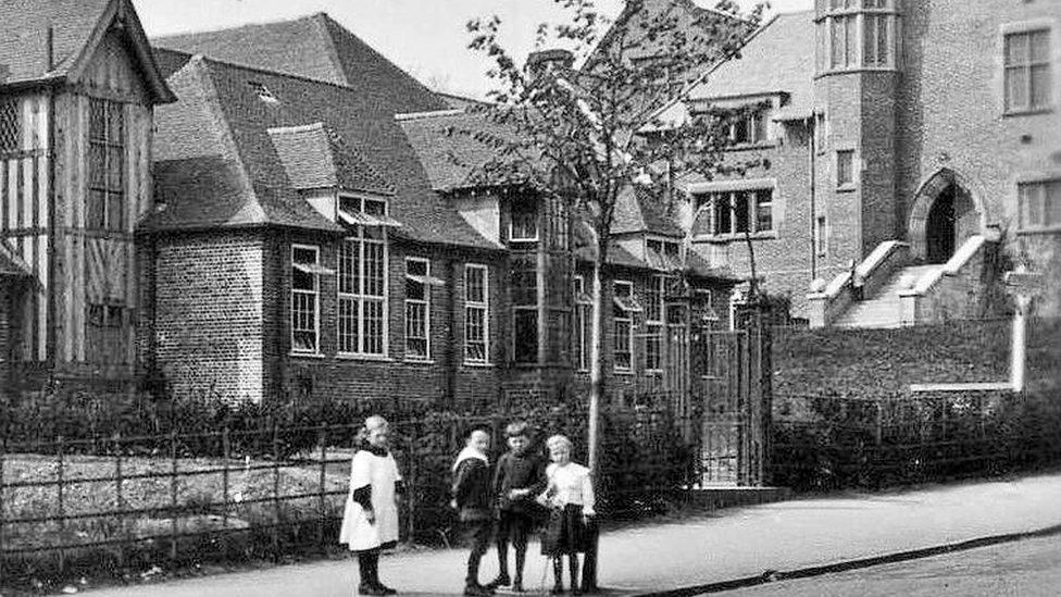 The Bournville Carillon and Junior School in 1910
