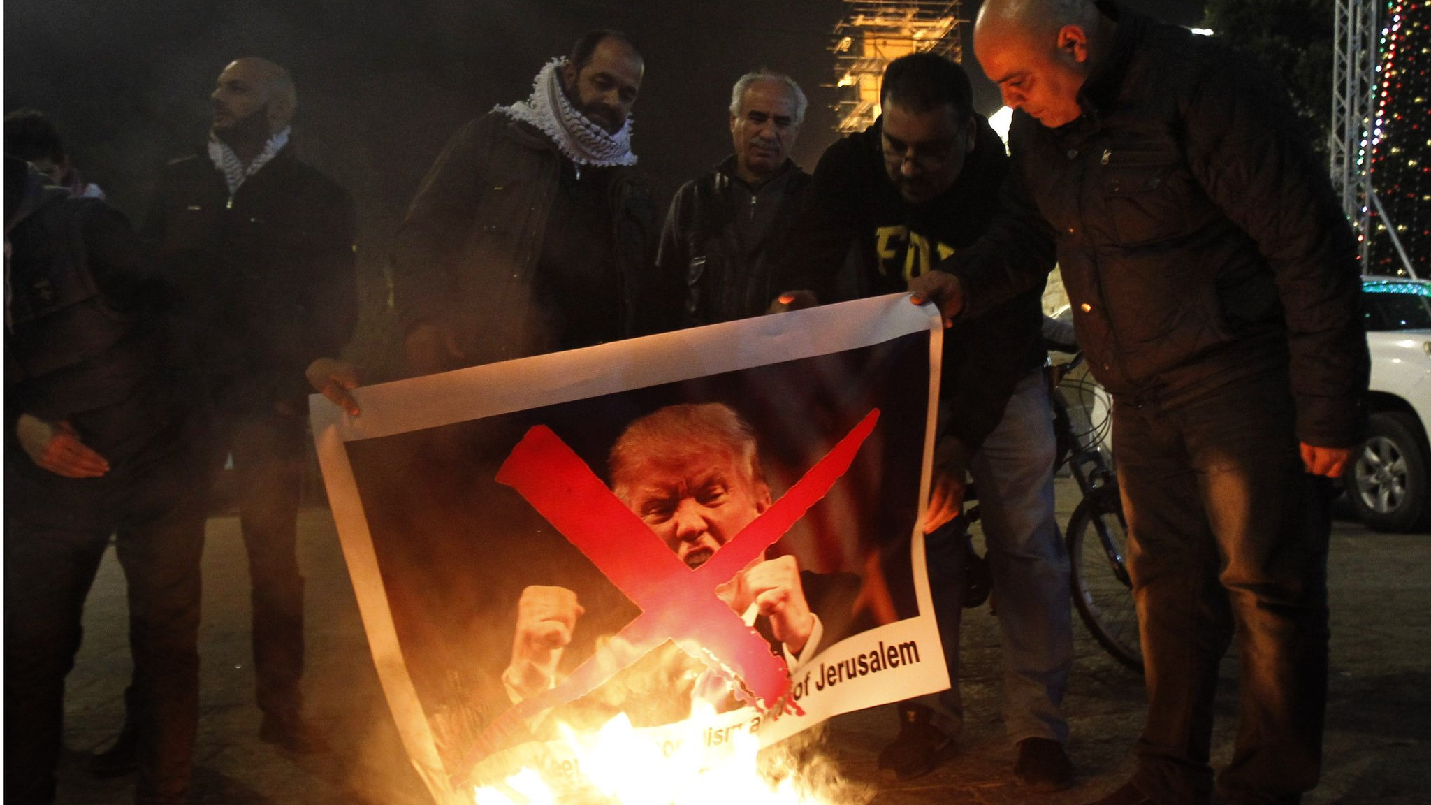 Trump's Jerusalem calls spark warnings from Arab leaders