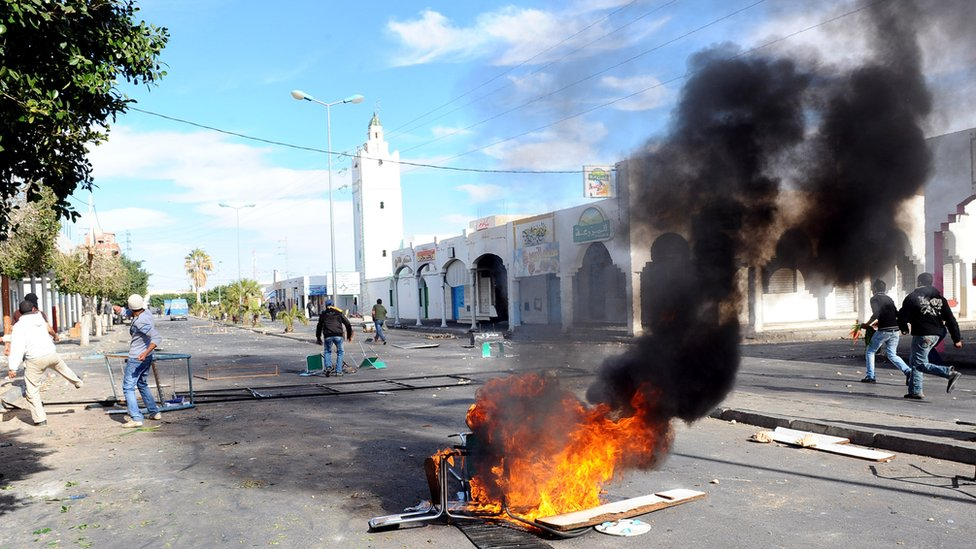 Unrest which toppled the Tunisian government in 2011