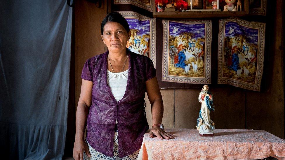 Ángela García, la tía de Vilma Trujillo.