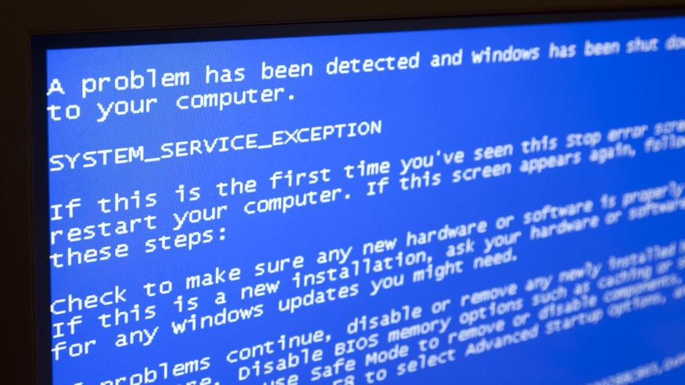 pantalla azul de la muerte (BSOD)