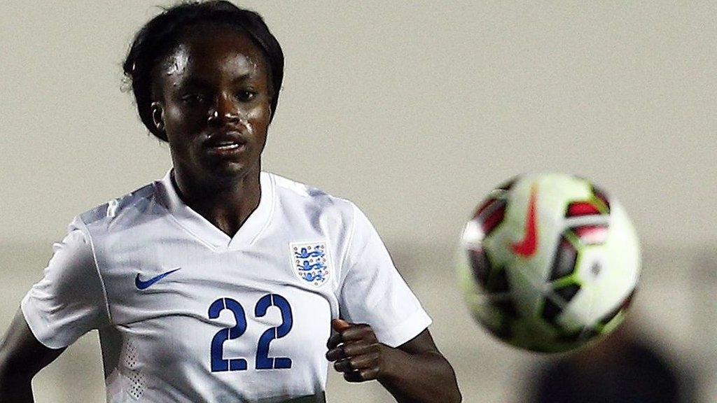 Eniola Aluko: England women's boss Mo Marley says striker can earn recall