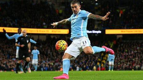 Aleksander Kolarov scores for Man City against Southampton
