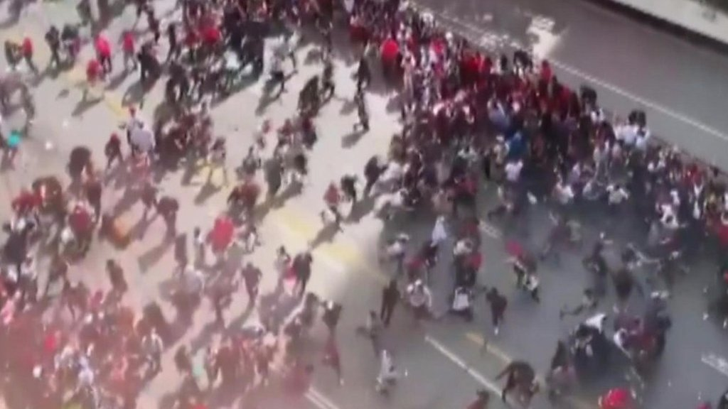 Panic amid Toronto Raptors victory parade gunfire