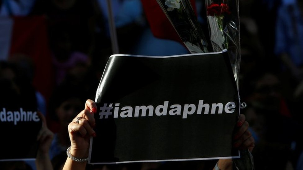 Daphne Caruana Galizia: Thousands demand justice in Malta