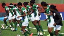 Nigeria's women's football team training