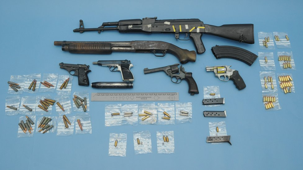 Cheshire's 'biggest' cocaine and guns gang jailed | BBC