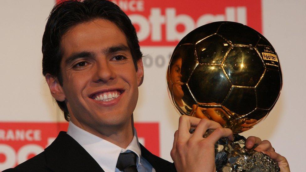 El brasileño Kaká fue el último jugador en ganar el Balón de Oro (2007) antes que comenzara el duopolio entre Messi y Ronaldo.