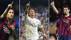 Neymar, Ronaldo & Messi up for award