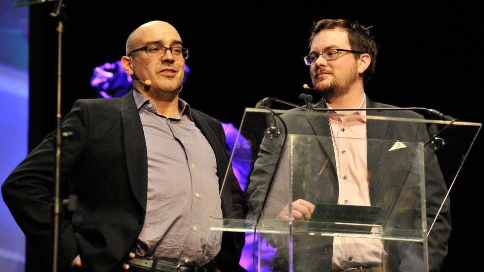 Dave McClure durante una entrega de premios en Silicon Valley en 2016.