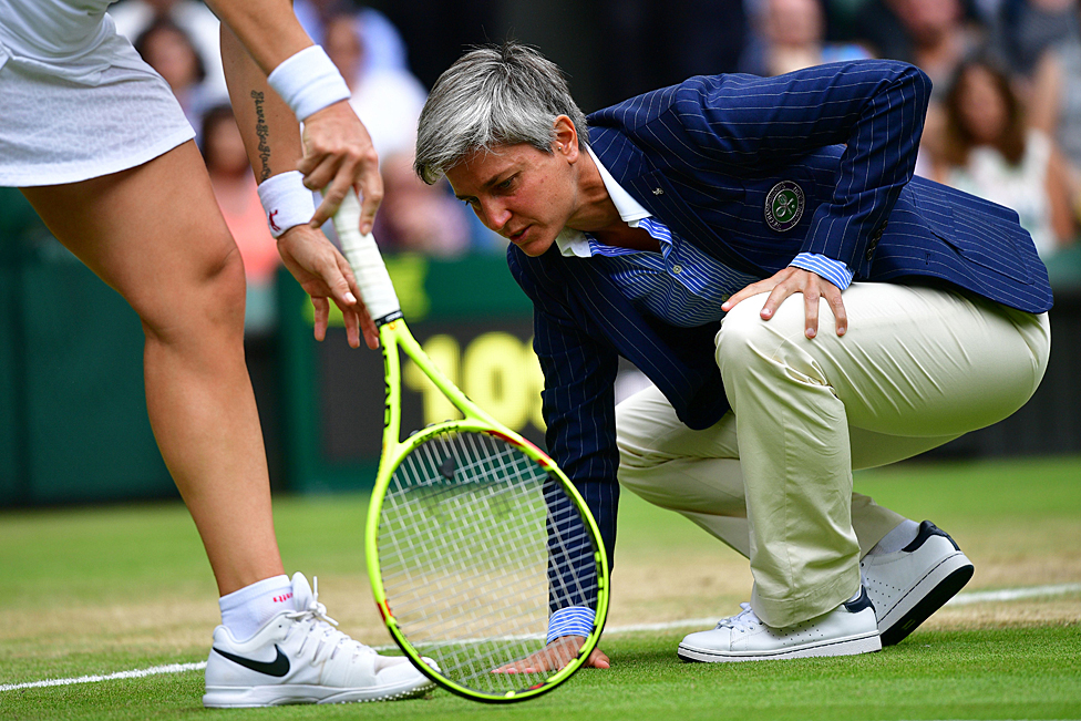 Juez de silla en Wimbledon