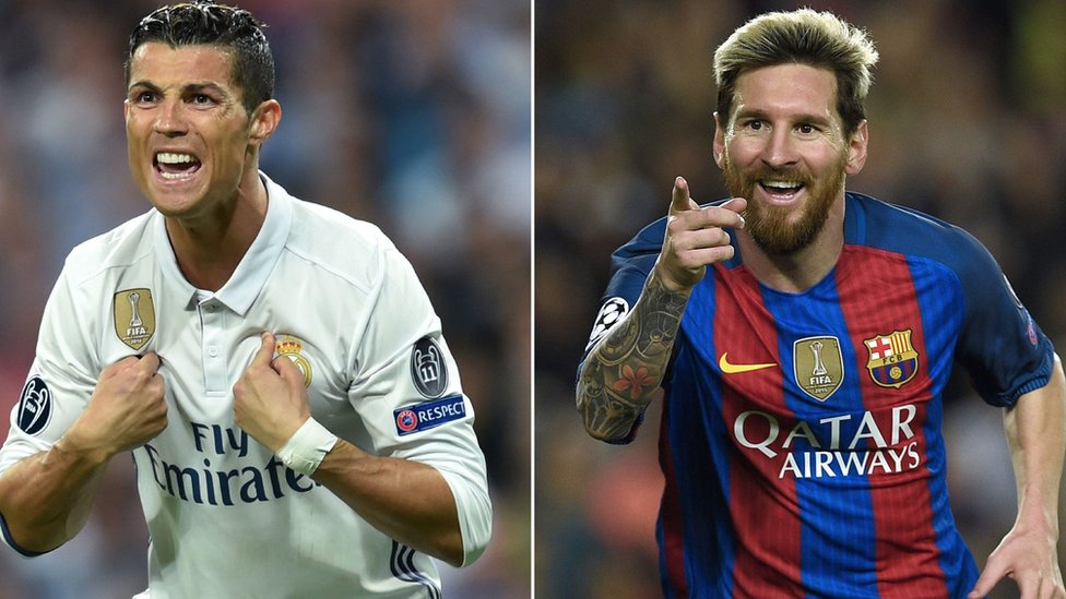 Cristiano Ronaldo (izquierda) y Lionel Messi (derecha)