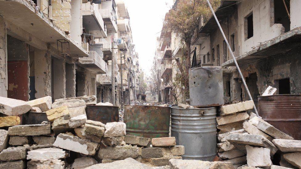 مناطق كبيرة من شرق حلب أصبح مدينة أشباح