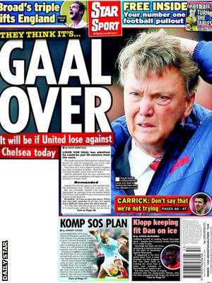 Today's newspaper gossip: LVG faces sack today, Real keen on De Gea