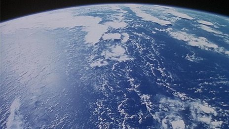 Surface of Earth as seen from space