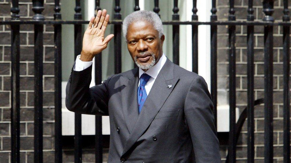 Kofi Annan: Theresa May pays tribute to 'great leader'