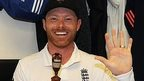 Ian Bell celebrates winning the Ashes in The Oval dressing room