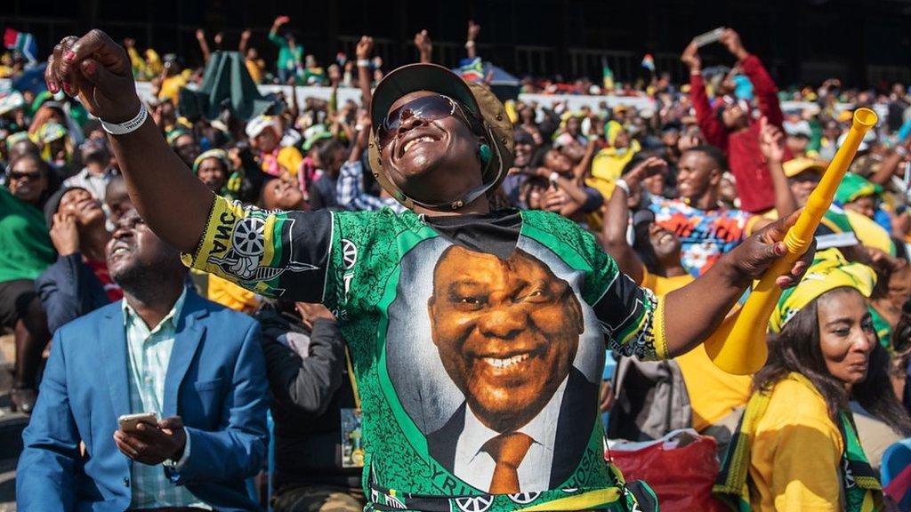 South Africa's President Ramaphosa sworn in